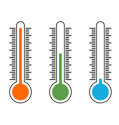 thermometer icons showing temperature warm vector image