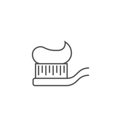 tooth brush line icon vector image