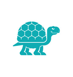 Turtle cartoon style icon sign tortoise vector