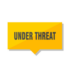 under threat price tag vector image
