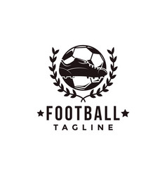 vintage football soccer sport team league logo vector image