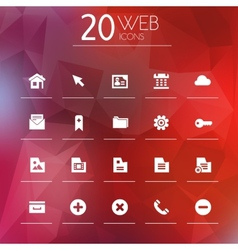 Web icons on blurred background vector