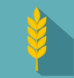 Wheat spike icon flat style vector