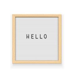 White letter board vector