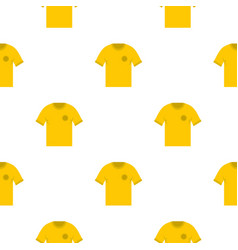 yellow soccer shirt pattern seamless vector image
