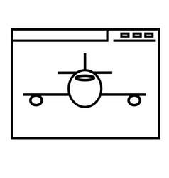 aeroplane website icon vector image vector image