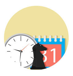 Business time plan vector