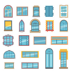 exterior set of different plastic or wooden vector image