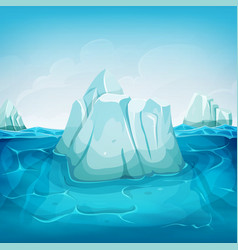 iceberg inside ocean landscape vector image