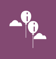 Icon two balloons in sky vector