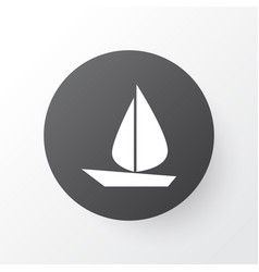 sail icon symbol premium quality isolated boat vector image