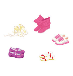 set of trendy women s shoes vector image vector image