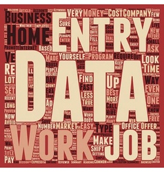 Work From Home Data Entry Made Easy text vector image