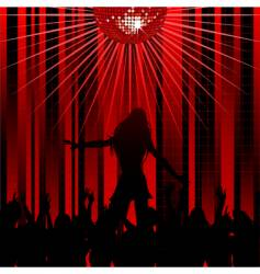 abstract red background and dancer vector image vector image