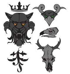 animal heads vector image