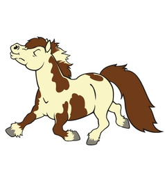 cartoon pony vector image vector image