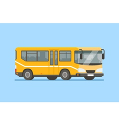 City bus in modern flat style vector image vector image