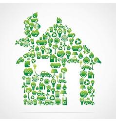 creative green home design vector image