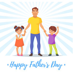 Fathers day greeting card template vector