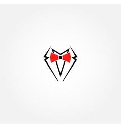 Suit logo design template Gentleman vector image