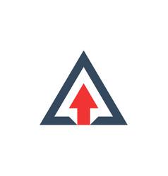 triangle logo vector image