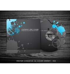 abstract cd cover design vector image vector image