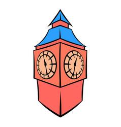 big ben in london icon cartoon vector image vector image