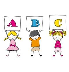 children alphabet vector image
