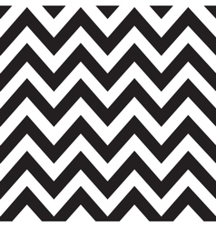 Classic zigzag lines pattern on black vector image