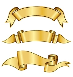 gold ribbon collection vector image vector image