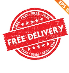 Stamp sticker free delivery collection - - vector image vector image