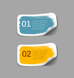 Colorful label paper brush stroke vector image