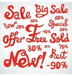 Discount signs vector