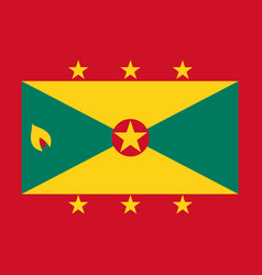 flag of grenada in national colors vector image