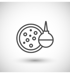 Medical test icon vector image