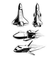 Space elements for vintage astronaut labels vector image