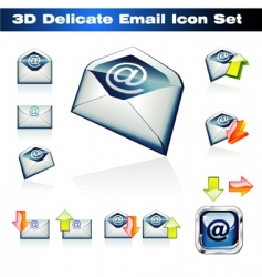3d email icon set vector image