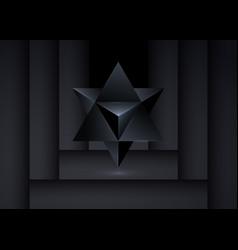 3d merkaba sacred geometry spiritual new age logo vector
