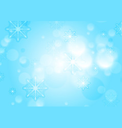 abstract blue and white bokeh christmas background vector image