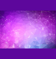 abstract low poly purple blue technology vector image