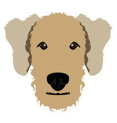 Airedale terrier avatar vector