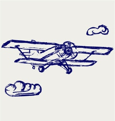 Airplane sketch vector image