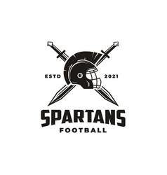 American football sport team logo template vector