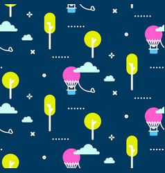 Amusement park pattern vector