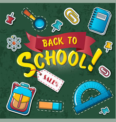 back to school concept background cartoon style vector image