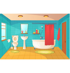 bathroom interior design and room modern decor vector image