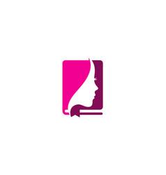 Beauty book logo icon design vector