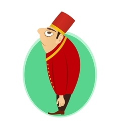 Bellhop bellboy bellman or doorman vector