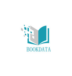 book data logo vector image