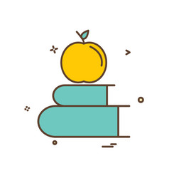 books apple icon design vector image